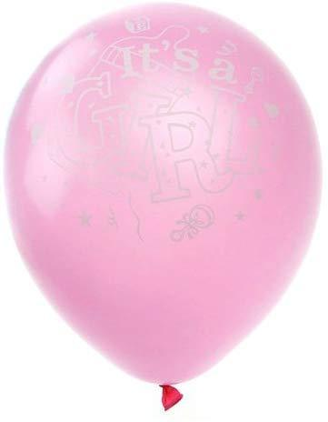 Latex Balloons Baby Shower, Its A Girl, 12-inch, 12-Piece, Pink