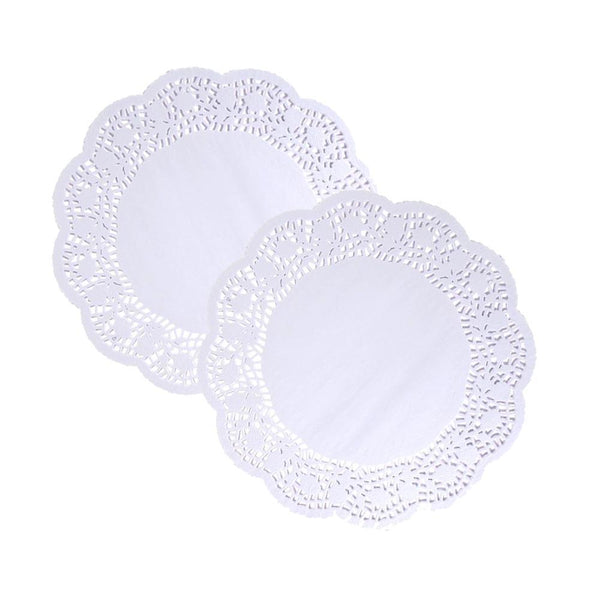 Round Lace Doilies, White, 4-1/2-Inch, 20-Count