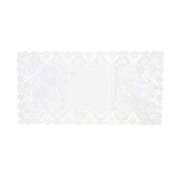 Rectangular Lace Doilies, White, 14-1/2-Inch, 20-Count
