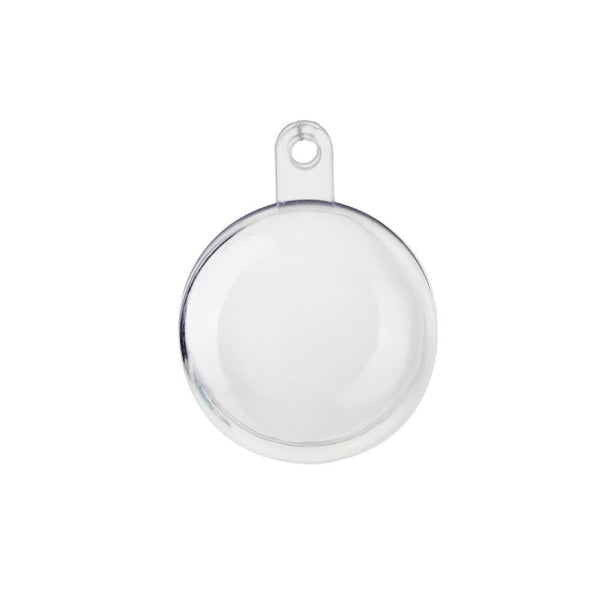 Fillable Plastic Clear Ball Ornament, 1-1/4-Inch, 12-Count