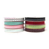 Grosgrain Swiss Dot Ribbon, 3/8-Inch, 5-Yard