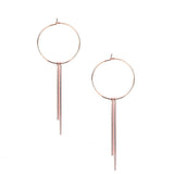 Hoop with Bar Fringe Earrings, 3-Inch