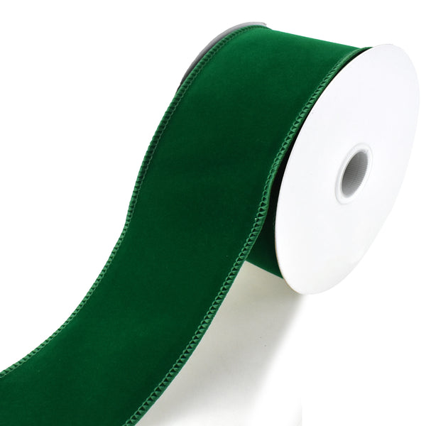 Royal Velvet Wired Edge Christmas Ribbon, Emerald Green, 2-1/2-Inch, 10-Yard