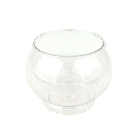 Plastic Fish Bowl Container, Clear, 4-1/2-Inch
