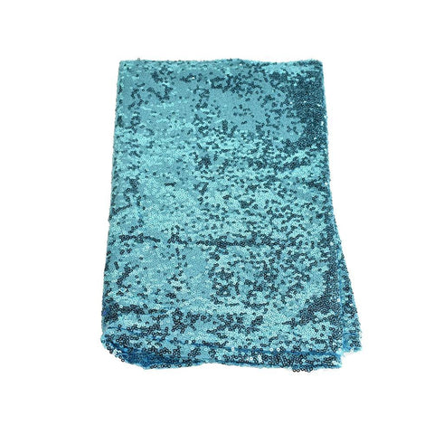 Sparkling Sequins Fabric Table Runner, 14-Inch x 108-Inch, Blue