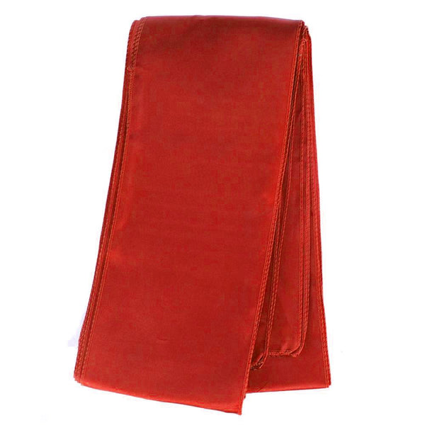 Satin Chair Bow Sash, 6-Inch x 9-Feet, 6 Count, Red