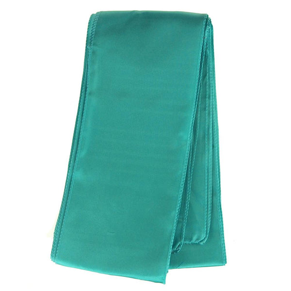 Satin Chair Bow Sash, 6-Inch x 9-Feet, 6 Count, Aqua