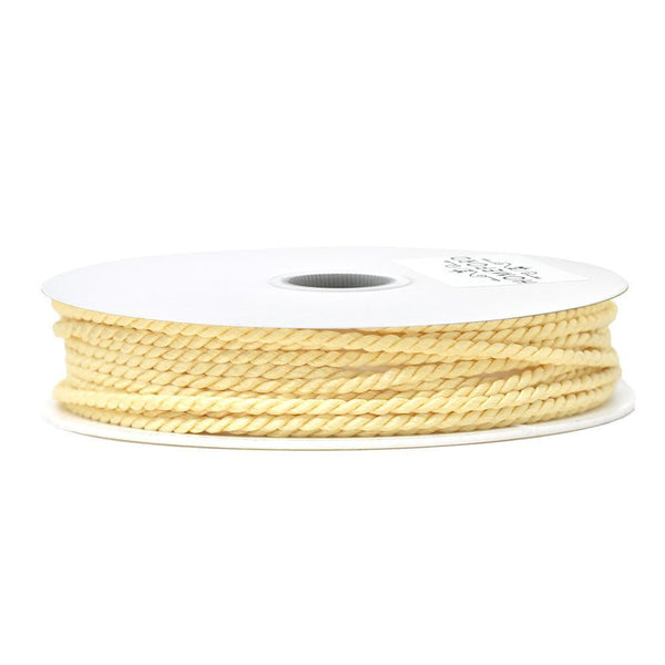 Solid Color Twisted Cord, Champagne, 1/8-Inch, 3-Yard