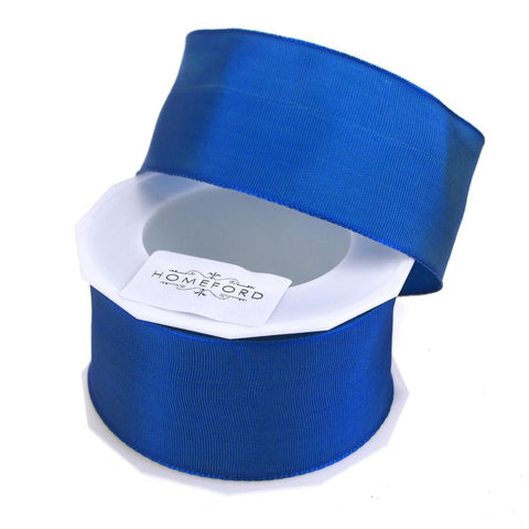 Taffeta Wired Ribbon, Made in Germany, 1-1/2-Inch, 10 Yards, Marine Blue