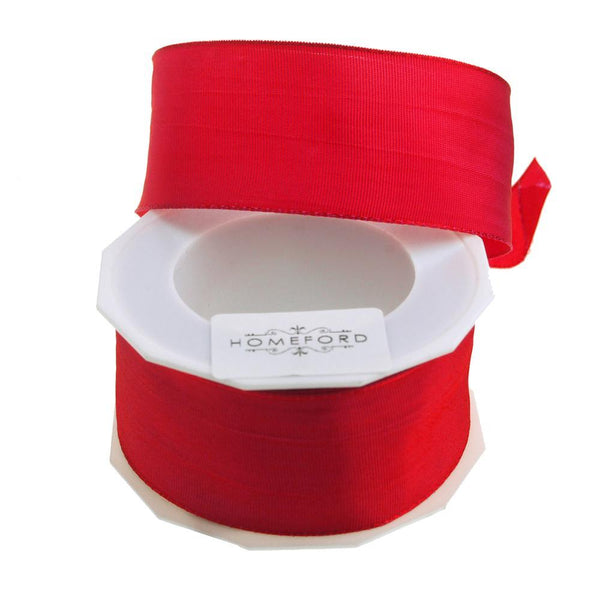 Taffeta Wired Ribbon, Made in Germany, 1-1/2-Inch, 10 Yards, Caribbean Red