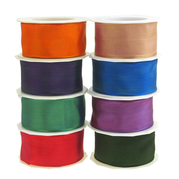Taffeta Wired Ribbon, Made in Germany, 1-1/2-Inch, 10 Yards