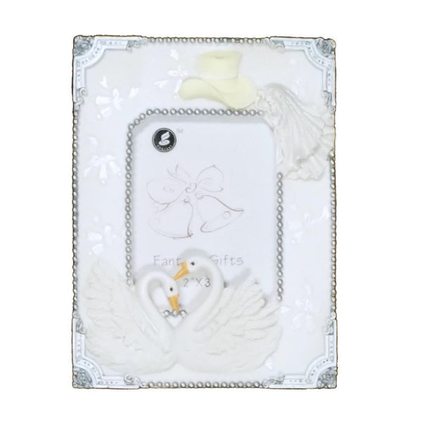 Wedding Bridal Shower Keepsake Frame, 4-3/4-Inch, Double Swan