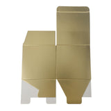 Cube Paper Gift Favor Boxes, 3-1/2-Inch, 12-Count, Gold
