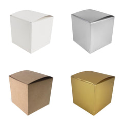 Cube Paper Gift Favor Boxes, 3-1/2-Inch, 12-Count