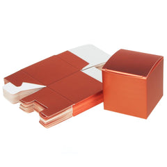 Cube Paper Gift Boxes, 3-Inch, 24-Piece, Coral