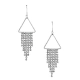 Triangle Chime Drop Earrings, 2-1/4-Inch