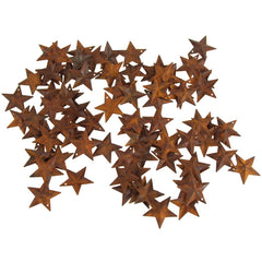 Mini Metal Rustic Stars Christmas Decor, 1-1/2-Inch, 100-Piece