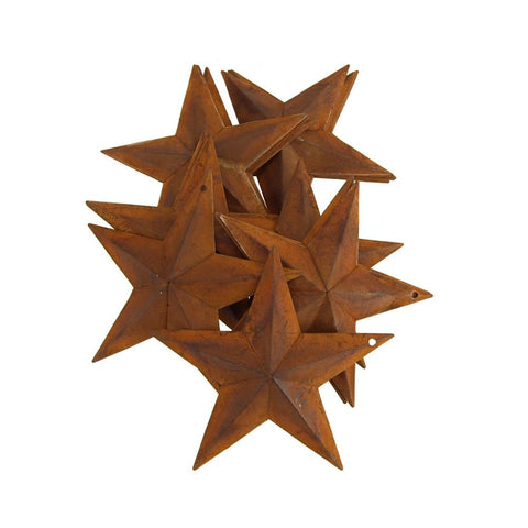 Metal Rustic Stars Christmas Decor, 5-1/2-Inch, 20-Piece