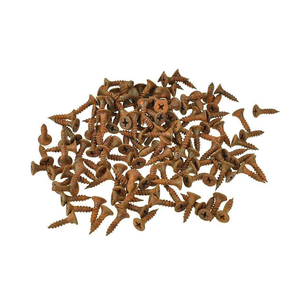 Rusted Craft Screws, 1/2-Inch