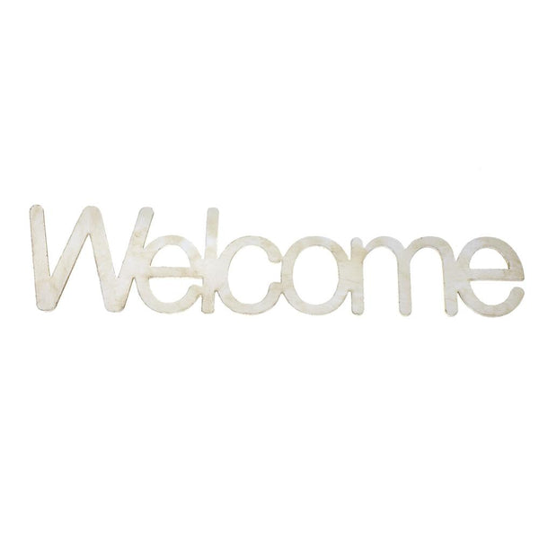 "Wooden ""Welcome"" Word Cutouts, Ivory, 8-Inch, 12-Count"