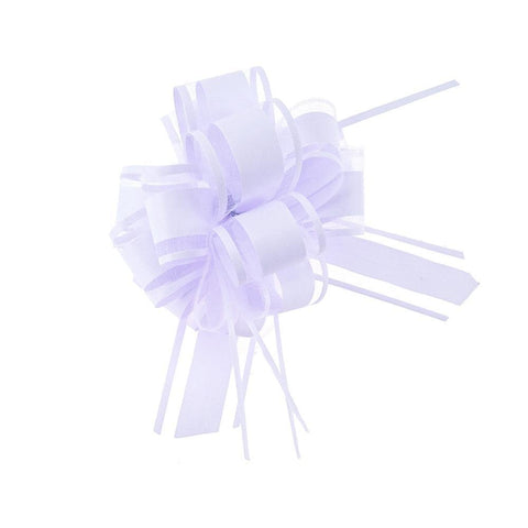 Snow Pull Bow Ribbon, 14 Loops, 1-1/4-Inch, 2-Count, Lavender