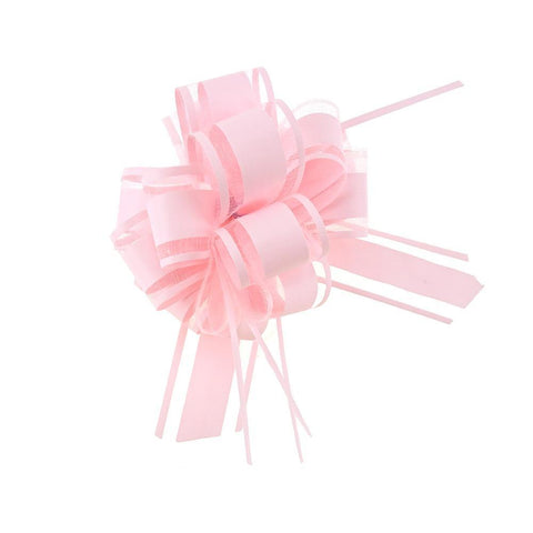 Snow Pull Bow Ribbon, 14 Loops, 1-1/4-Inch, 2-Count, Pink
