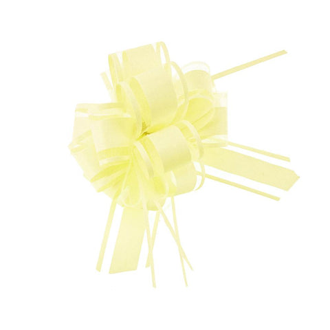 Snow Pull Bow Ribbon, 14 Loops, 1-1/4-Inch, 2-Count, Yellow