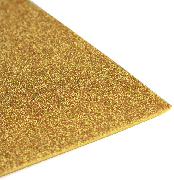 Glitter EVA Foam Sheet, 9-1/2-Inch x 12-Inch, 10-Piece, Gold