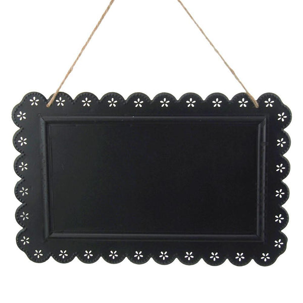 Metal Chalkboard Frame Sign withe Eyelet Edge, Black, 15-Inch