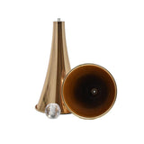 Metal Slim Waste Trumpet Vase with Diamond Accent, Gold, 26-1/2-Inch