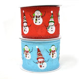 Dancing Snowmen Christmas Wired Ribbon, 2-1/2-Inch, 10-Yard