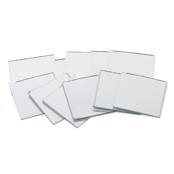 Square Mirror Table Scatter, Clear, 1-1/2-Inch, 12-Count