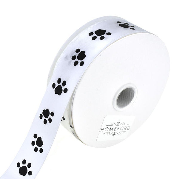 Puppy Paw Print Pattern Ribbon, 7/8-Inch, 5-Yard
