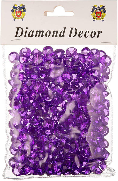 300 piece Small Gemstone Diamonds Table Confetti, 3/8-inch, Purple