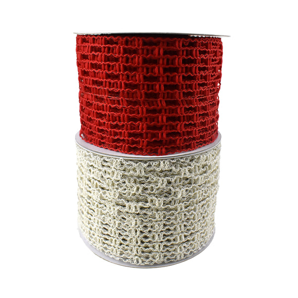 Expandable Faux Jute Wired Ribbon, 2-1/2-Inch, 10-Yard