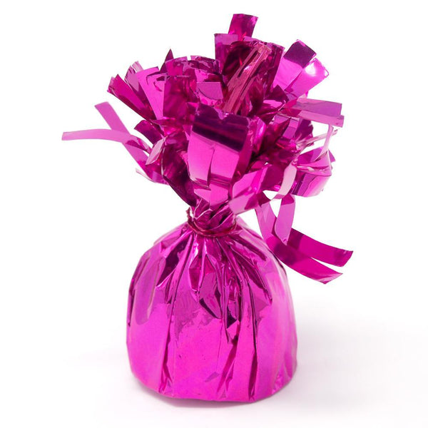 Foil Balloon Weight Party Decorations, 4-1/2-Inch, Fuchsia