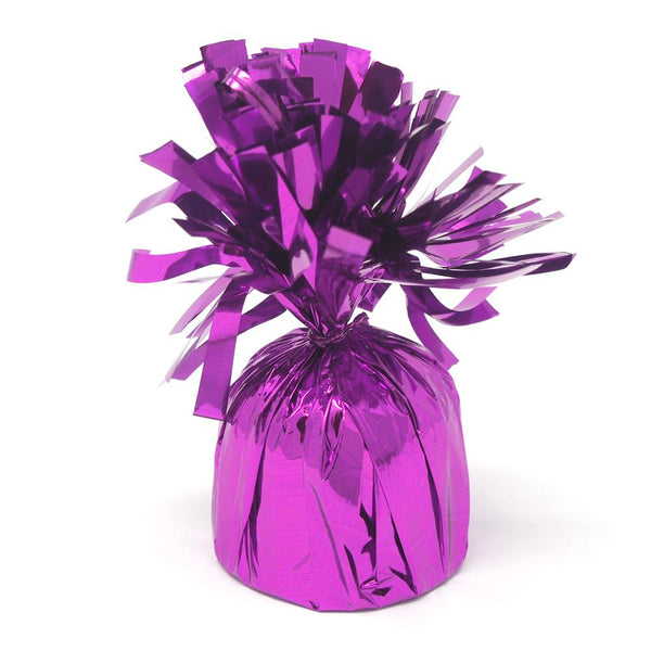 Foil Balloon Weight Party Decorations, 4-1/2-Inch, Purple