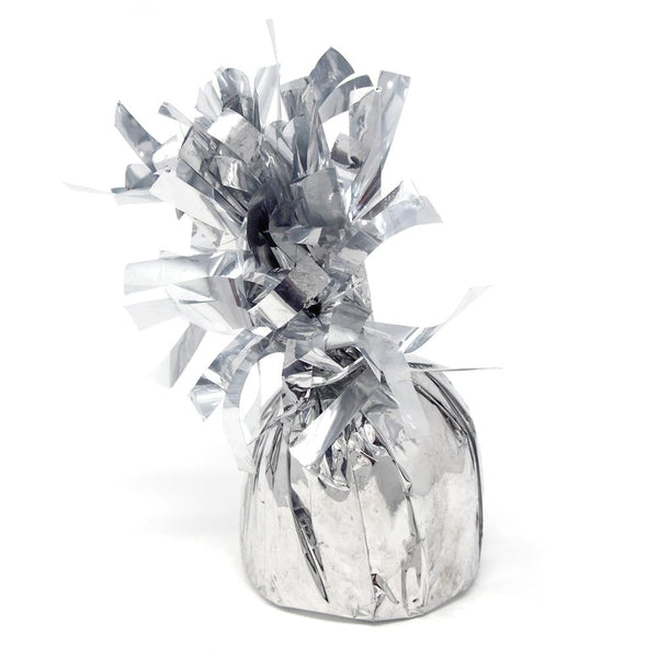 Foil Balloon Weight Party Decorations, 4-1/2-Inch, Silver