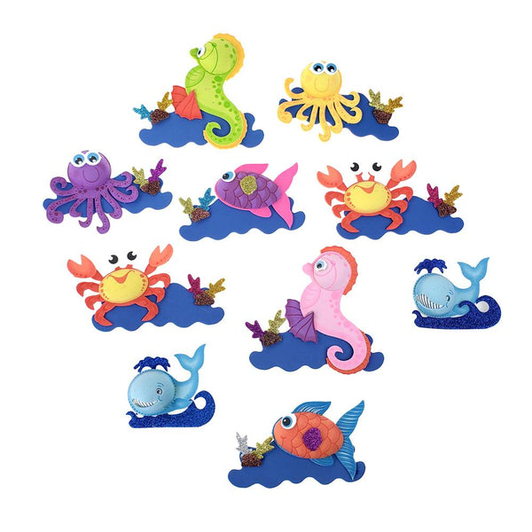 Foam Sea Creature Cutouts, Assorted Animals