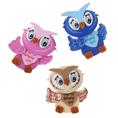 3D Owl Craft Foam Cutouts, 3-Inch, 10-Count