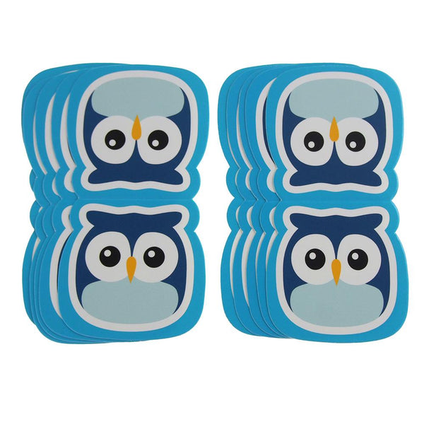 Owl Safari Animal Paper Cut Outs, Blue, 4-1/2-Inch, 10-Count