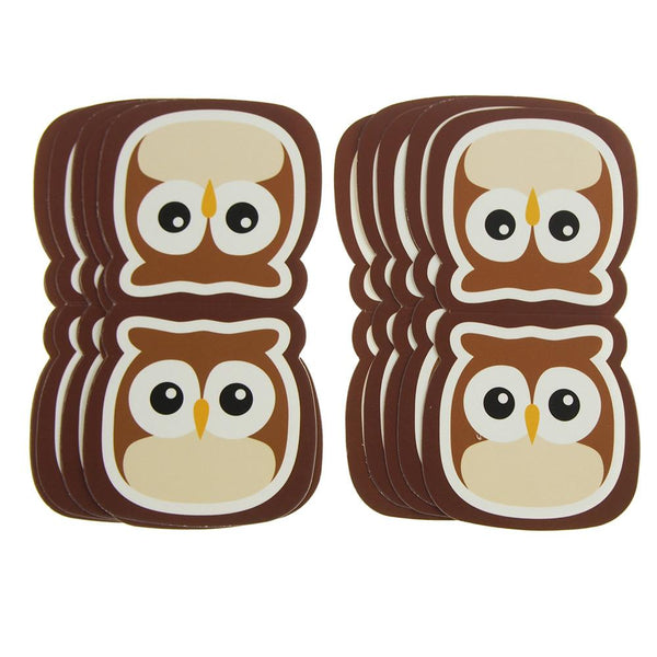 Owl Safari Animal Paper Cut Outs, Brown, 4-1/2-Inch, 10-Count