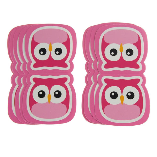 Owl Safari Animal Paper Cut Outs, Pink, 4-1/2-Inch, 10-Count