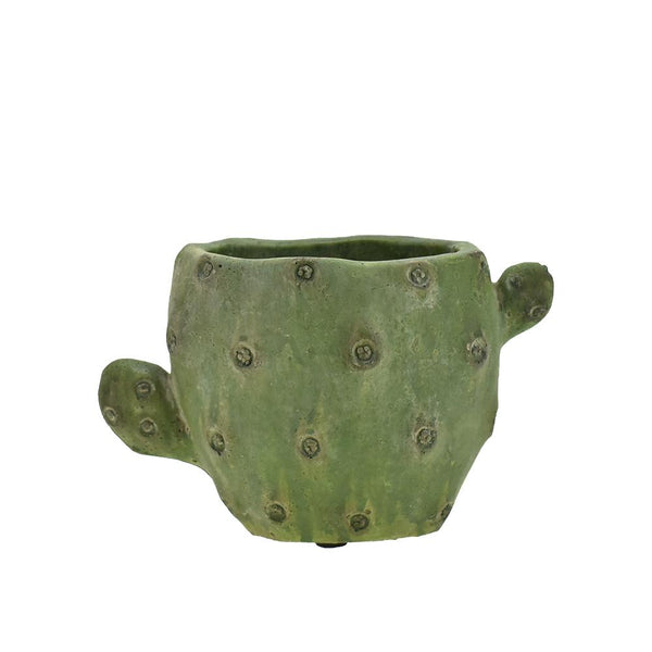 Cemented Cactus-Shaped Pot, 6-1/2-Inch