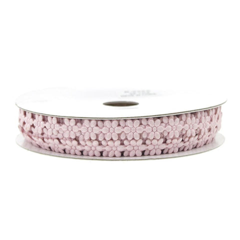 Polyester Flower Garland Ribbon, 1/4-Inch, 25-Yard, Mauve