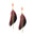 Feather with Stone Drop Earrings, 4-Inch