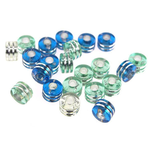 Acrylic Barrel Pony Beads, 9mm, 80-Piece, Cloud