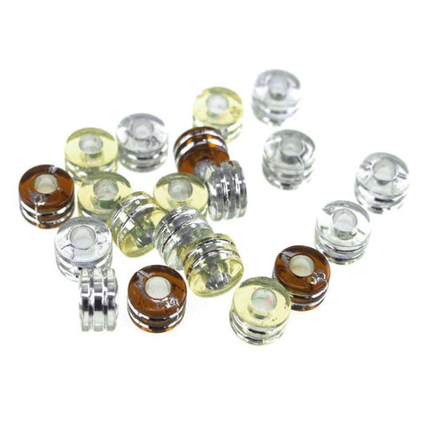 Acrylic Barrel Pony Beads, 9mm, 80-Piece, Caramel