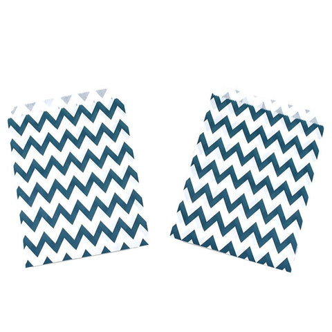 Chevron Patterned Patterned Treat Bags, 7-1/4-Inch, 8-Count