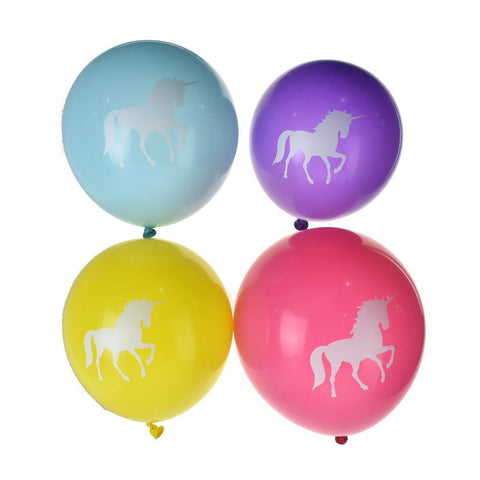 Magical Unicorn Latex Balloons, Assorted Color, 12-Inch, 8-Piece